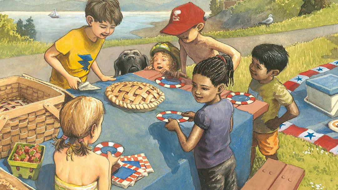 Kids in the Cliff – Pie is for Sharing
